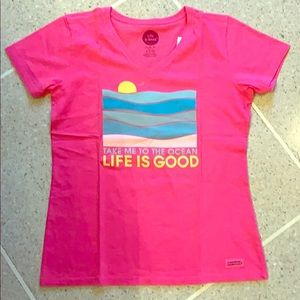 NWT Life is Good Take Me to the Ocean T-shirt